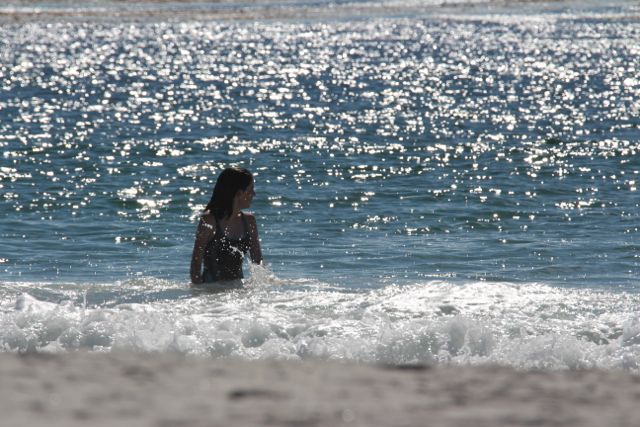 Indi catching a wave!